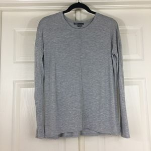 Vince center seam top heather gray long sleeves